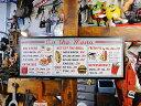 ダイナーメニューのエンボス・ティンサイン ■ 本場のアメリカから直輸入! アメリカ雑貨 アメリカン雑貨 インテリア雑貨 ブリキ看板 アメ雑貨 スティールサイン 標識看板 メタルサイン 壁掛け インテリア ティンサイン