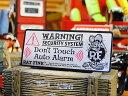 楽天アメリカ雑貨通販キャンディタワーラットフィンクのセキュリティステッカー ■ 自分仕様だから愛着も強くなる! 世田谷ベース 人気のアメリカ雑貨屋 おしゃれ おもしろ アメリカン雑貨 車 バイク スーツケース デカール シール