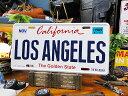 カリフォルニア州のライセンスプレート(ロサンゼルス) ■ ナンバープレート アメリカ看板 サインプレート アメリカ雑貨 インテリア雑貨 アメリカン雑貨 かっこいい男の部屋 おしゃれ CMプレート ティンサイン ブリキプレート 壁掛け インテリア 西海岸スタイル 西海岸