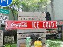 コカ・コーラブランド ストリートサイン ICE COLD ■ アメリカ雑貨 アメリカン雑貨 アメ雑貨 アメ雑 壁掛け 壁飾り 人気 壁面装飾 内装 スティールサイン アメリカ 雑貨 おしゃれ ウォールデコレーション 男前 インテリア 雑貨