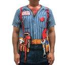 おもしろ変装Tシャツ フォーリアルTシャツ(マリオブラザース...