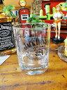 ジャック・ダニエルのロックグラス(ブラック)■ アメリカ雑貨 アメリカン雑貨