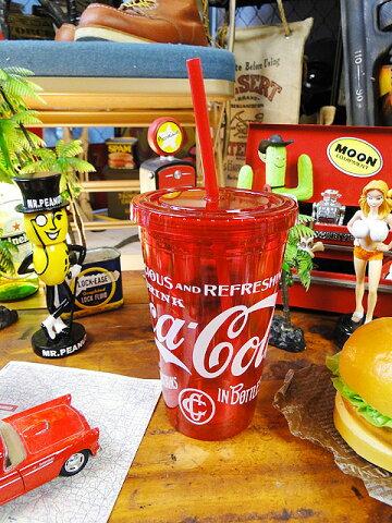 コカ・コーラ クリアレッドタンブラー ■ アメリカ雑貨 アメリカン雑貨