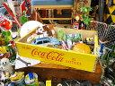 コカ コーラブランド ウッドクレート イエロー ■ コカコーラグッズ 雑貨 グッズ ブランド Coca-Cola アメリカ雑貨 アメリカン雑貨 コーラ 置物 インテリア おしゃれ 人気 小物 こだわり派が夢中になる 人気のアメリカ雑貨屋 木箱 小箱 ウッドボックス