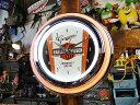 【全国送料無料】ハーレーダビッドソンのダブルネオンクロック(ノスタルジックB&S) ■ 壁掛け時計 アメリカ雑貨 アメリカン雑貨