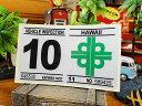 ハワイの車検バンパーステッカー レプリカ(10月) ■ アメリカ雑貨 アメリカン雑貨 自分仕様だから愛着も強くなる! アメリカ 雑貨 車 バイク スーツケース かわいい デカール オリジナル アルファベット 人気 シール カー 用品 アクセサリー リアガラス レトロ