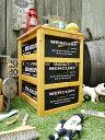 マーキュリーのウッドボックス引き出し式3段ラック(ブラック) ■ 木箱 小箱 小物入れ