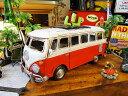 ワーゲンバスのブリキオブジェ(レッド)■ アメリカ雑貨 アメリカン雑貨