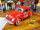 コカ コーラ 1966年フォルクス ワーゲン ビートルのダイキャスモデルカー 1/24スケール