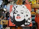 マリリン・モンローのキャンバスアート(レッド)