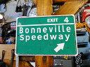 ボンネビル・スピードウェイのミニブリキ看板