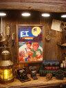ポスターフレーム(E.T. MAKES FRIENDS) ■ アメリカ雑貨 アメリカン雑貨 壁掛け 壁飾り インテリア雑貨 おしゃれ 人気 アンティーク ..