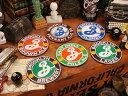 カラフルな地ビールのレアなコースター!ブルックリンビアーのコルクバックコースター 6個セット