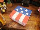 パーティーにはコレ!!アメリカン気分を満喫できます♪星条旗のペーパーナプキン(Sサイズ)