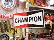 【全国送料無料】ビッグサイズ チャンピオンのガレージングサイン ■ サインプレート アメリカ看板 ティンサイン サインボード アメリカ 雑貨 アメリカン雑貨 おしゃれ 壁面装飾 装飾 飾り ディスプレイ 内装 人気 ウォールデコレーション