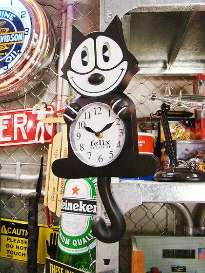 フィリックスのアニメイテッドクロック★掛時計★アメリカ雑貨★アメリカン雑貨