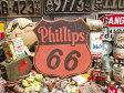 アメリカンガレージのウッドサイン(フィリップス66) ■ 木製 ウッド アメリカ 看板 サインプレート サインボード アンティーク アメリカン雑貨 アメリカン雑貨 壁面装飾 装飾 ディスプレイ 内装 人気 ウォールデコレーション 壁飾り