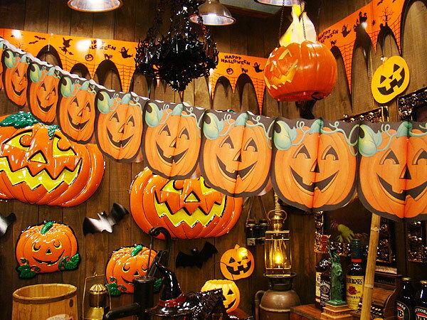 ハロウィン パンプキンガーランド 300cm ■ ハロウィン グッズ 雑貨 飾り かぼちゃ…...:candytower:10013253