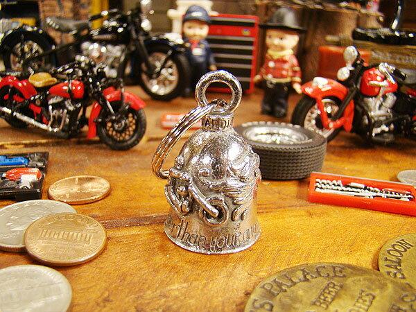 アメリカのバイカーのお守り ガーディアンベル(バイク&エンジェル) ■ バイカーに人気のお守り アメリカ雑貨 アメリカン雑貨 ハーレーダビッドソン Harley-Davidson バイカーベル プレゼント バイク乗り 鉄馬 ロゴ おしゃれ キーホルダー キーチェーン キーリング
