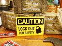 USAサインプレートステッカー(注意!安全のためにカギをして下さい) ■ 自分仕様だから愛着も強くなる! こだわり派が夢中になる人気の..