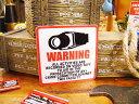 セキュリティステッカー(ワーニングカメラ) ■ 自分仕様だから愛着も強くなる! こだわり派が夢中になる人気のアメリカ雑貨屋 ステッカー アメリカン雑貨 車 バイク スーツケース かわいい デカール シール オリジナル アルファベット 防犯グッズ