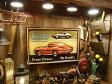 コルベット・スティングレイの木製看板 ■ ウッドサイン サインプレート アメリカ アンティーク 木製 ウッド 看板 サインボード アメリカ雑貨 アメリカン雑貨 壁面装飾 装飾 ディスプレイ 内装 人気 ウォールデコレーション 壁飾り