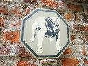 昔のアドバタイジングのウッドサイン(ブルドッグ) ■ 木製 ウッド アメリカ 看板 サインプレート ...