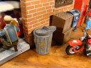 ミニカー用のジオラマ演出アイテムシリーズ 1/24スケール(ゴミ箱2個セット) ★アメリカ雑貨★アメリカン雑貨