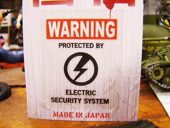 警告ステッカー(ワーニングサンダーBK)★アメリカン雑貨★アメリカン雑貨