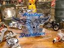 ハーレーダビッドソン ステッカーシート(ブルーイーグル) Lサイズ ■ 自分仕様だから愛着も強くなる! こだわり派が夢中になる人気のアメリカ雑貨屋 ステッカー アメリカン雑貨 車 バイク スーツケース デカール シール オリジナル アルファベット 世田谷ベース