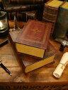 古めかしい洋書みたいな小物入れ ブックボックス 2冊セット(...