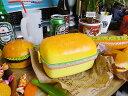 ハンバーガーのランチボックス(レクタングル) ■ お弁当箱■...