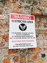 RoomClip商品情報 - U.S.エアフォース警告看板のプラスチックサインボード Lサイズ ■ サインプレート アメリカ 看板 アメリカ雑貨 アメリカン雑貨 おしゃれ 壁面装飾 装飾 ディスプレイ 内装 ウォールデコレーション サインプレート