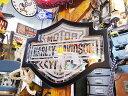 【全国送料無料】ハーレーダビッドソンのバー&シールドミラー ■ アメリカ雑貨 アメリカン雑貨 壁掛け 鏡 アンティーク加工 インテリアグッズ カッコイイ男の部屋を目指せ! アメリカ雑貨屋 harley davidson 鉄馬 壁面装飾 装飾 飾り