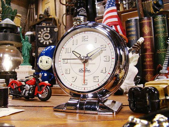 ダルトンオールドモーニングクロック(クローム)★置き時計★アメリカ雑貨★アメリカン雑貨