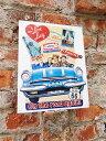 アメリカ ブリキ看板 アイ・ラブ・ルーシー Lucy on the road again ■ サインプレート ブリキ アメリカ看板 ティンサイン サインボード..