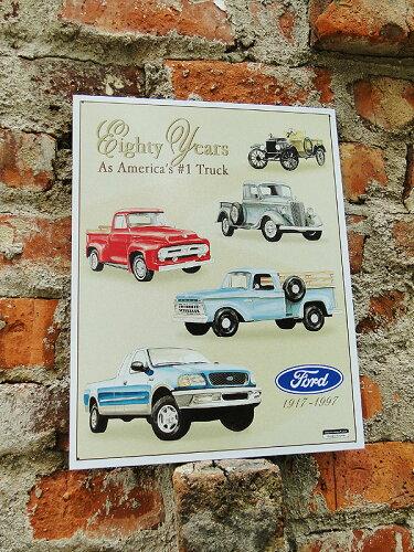 アメリカンブリキ看板 ピックアップ -Ford 80yrs. of Pickups-