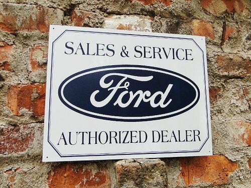 アメリカンブリキ看板 フォード・ロゴ -SALES & SERVICE-