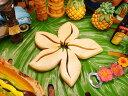 ナチュラルなハワイの雰囲気!ハワイアン ウッド鍋敷き(プルメリア)