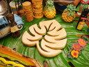 ナチュラルなハワイの雰囲気!ハワイアン ウッド鍋敷き(モンステラ)