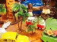 南の島のヤシの木のオブジェ (2個入り/大と小のセット) ■ アメリカ雑貨 アメリカン雑貨 アメリカ 雑貨ハワイ雑貨 ハワイアン 雑貨 インテリア 人気 小物 カー用品 パームツリー 椰子の樹 車 カーアクセサリー アクセント おしゃれ おもしろ 装飾 アメリカ雑貨屋