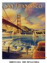 アメリカ ブリキ看板 サンフランシスコのゴールデンゲ
