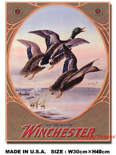 アメリカンブリキ看板 ウィンチェスター -3 Mallards-
