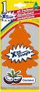 BIGリトルツリー X-tra Strength(ココナッツ) Little Trees MADE IN U.S.A. ■ エアーフレッシュナー エアフレ アメリカ雑貨 アメリカン雑貨 トイレ 芳香剤 部屋 車 匂い 吊り下げ カーフレッシュナー 女性 かわいい 消臭 おしゃれ カーアクセサリー