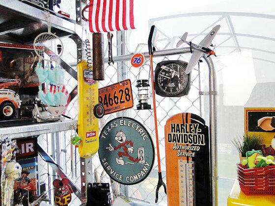 アメリカンガレージのウッドサイン(レディキロワット/ブルー)■木製ウッドアメリカ看板サインプレートサインボードアンティークアメリカン雑貨アメリカン雑貨壁面装飾装飾ディスプレイ内装人気ウォールデコレーション壁飾り