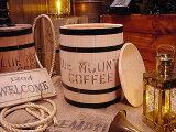コーヒー木樽(大だる)無色 ★ 「1位」 ★アメ雑★アメリカ雑貨木箱★アメリカン雑貨木箱