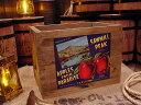 クレートラベルボックス Lサイズ NO.17 SAWMILL PEAK APPLES FROM PARADISE ■ 木箱 小物入れ ガーデニング ケース ボックス アンティーク アメリカ雑貨 アメリカン雑貨 カントリー雑貨 ナチュラル雑貨 おしゃれ 収納ボックス ウッドボックス 木製 インテリア 男前