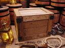 輸出用木箱 Aタイプ 茶 Lサイズ ■ 「楽天1位」 ■ アンティーク風木箱 木箱 小物入れ