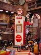 レッドスターガソリンのガスポンプCDタワー ■ アメリカ雑貨 アメリカン雑貨 キャビネット おもしろ雑貨 おもしろグッズ おしゃれ CDラック 人気 オーディオ収納 インテリア雑貨 かっこいい 通販