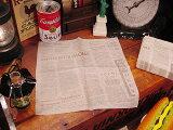 ニュースペーパーナプキン 50枚入り(ブラウン) ★ 「1位」 ★紙ナプキン アメリカ雑貨 アメリカン雑貨 アメ雑貨 インテリア 雑貨 人気 おしゃれ 通販 カントリー雑貨 キッチン ナチュラル